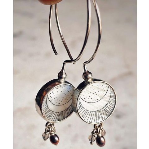 carved shell earrings by ahlazua arts