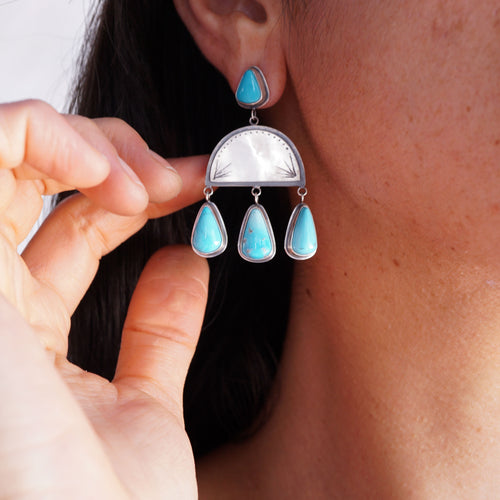 glorious sleeping beauty turquoise dangles