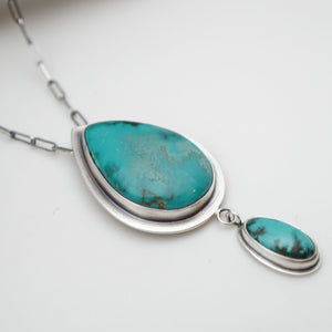 sierra nevada turquoise 2-stone necklace