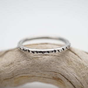 rustic textured stacking ring - size 7.5