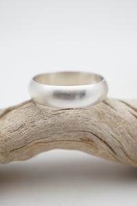 half round men's ring band - 2 sizes available