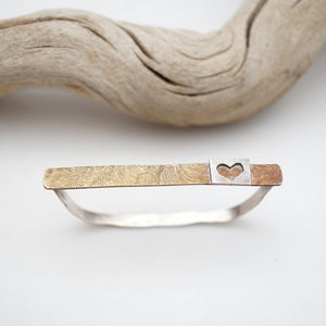two-finger heart ring - med/large
