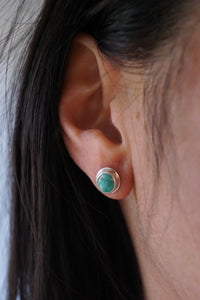 small carico lake turquoise stud earrings
