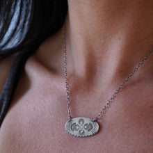 oval stamped silver necklaces