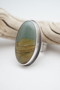 picture jasper ring - size 7