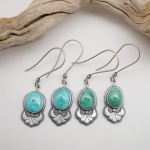 crescent dangle earrings