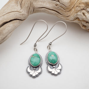broken arrow variscite dangle earrings