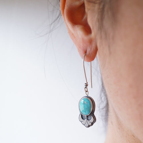 whitewater turquoise dangle earrings