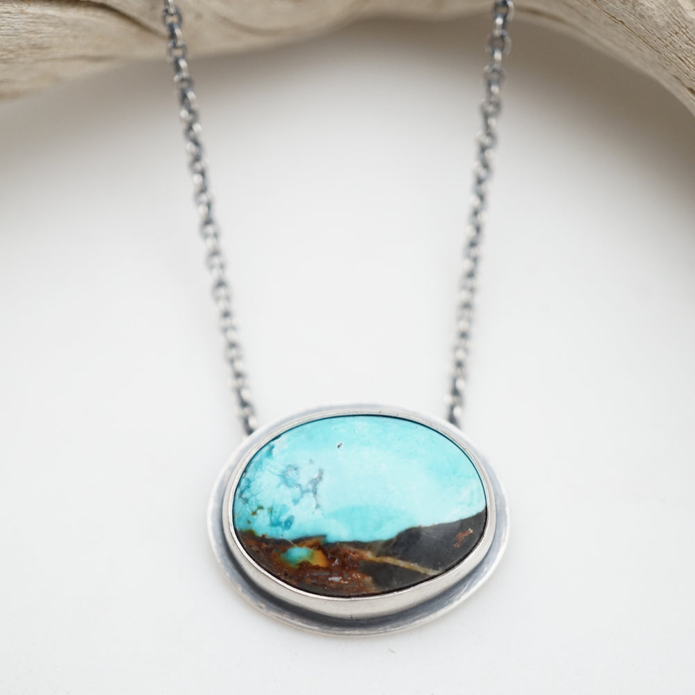 sierra nevada boulder turquoise oval necklace