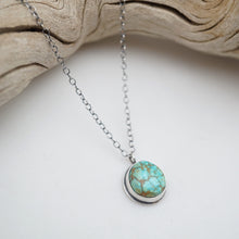 "dainty turquoise mountain turquoise + silver necklace - 17"" chain"