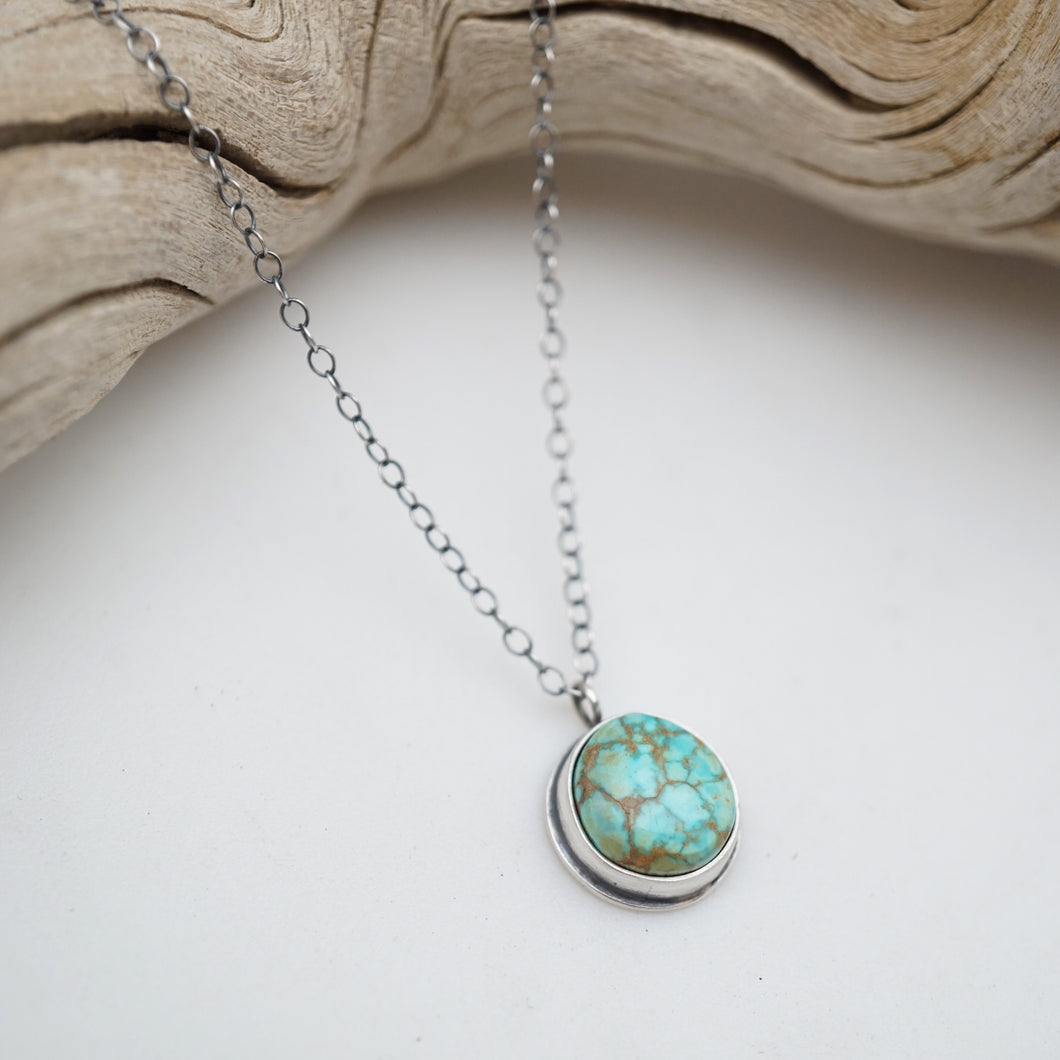 dainty turquoise mountain turquoise + silver necklace - 17