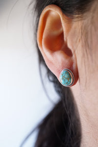 turquoise mountain turquoise silver studs