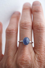 tanzanite ring - silver + 14k goldfill - size 6