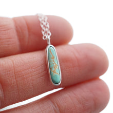 "dainty royston turquoise + silver necklace - 17"" chain"