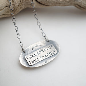 i will speak up necklace #1