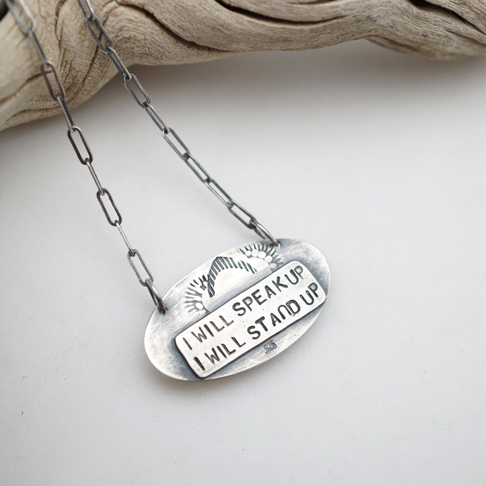 i will speak up necklace #2