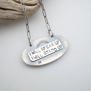 i will speak up necklace #6 - sonoran rose turquoise