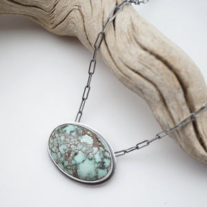 poseidon variscite mossy oval necklace