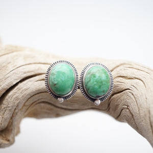broken arrow variscite + silver studs