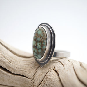 double layered poseidon variscite ring - size 5