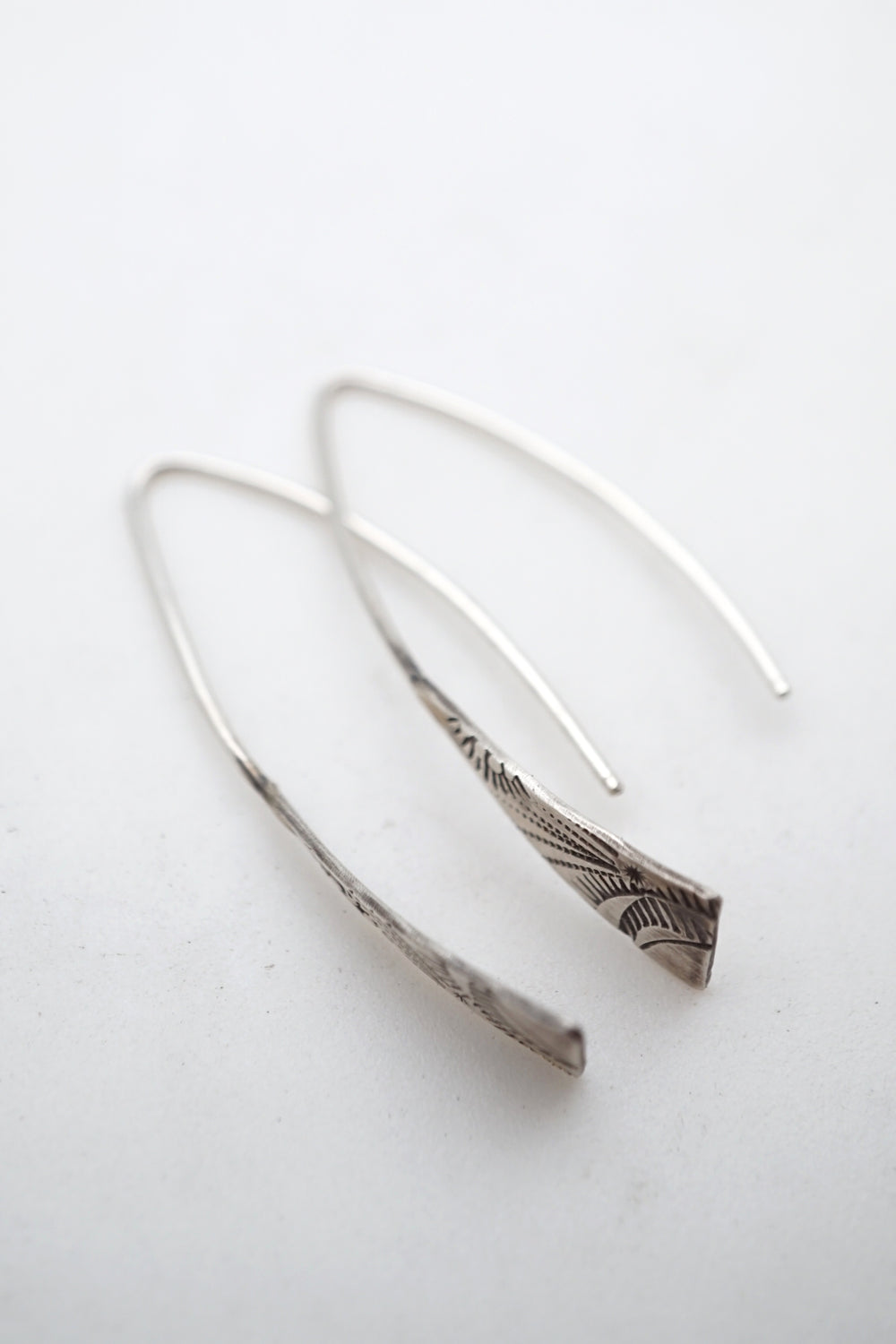 cutie silver stamped earrings #2