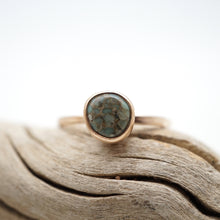 teeny tiny poseidon variscite stacking ring - 14k goldfill - size 7.75