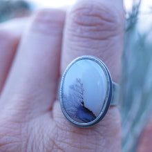 narmada river dendritic agate ring - size 7