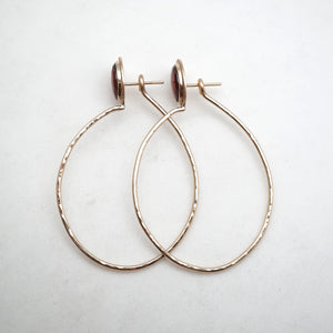 faceted garnet lumenrose hoop earrings - 14k goldfill - small size