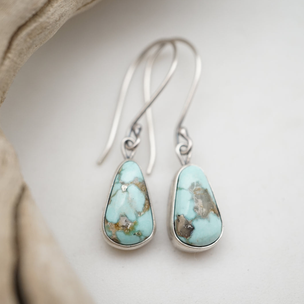 sonoran gold turquoise simple dangle earrings