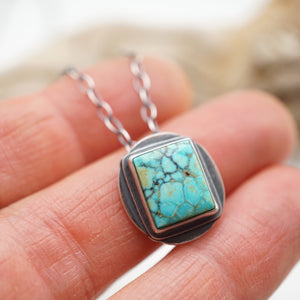turquoise mountain turquoise square necklace