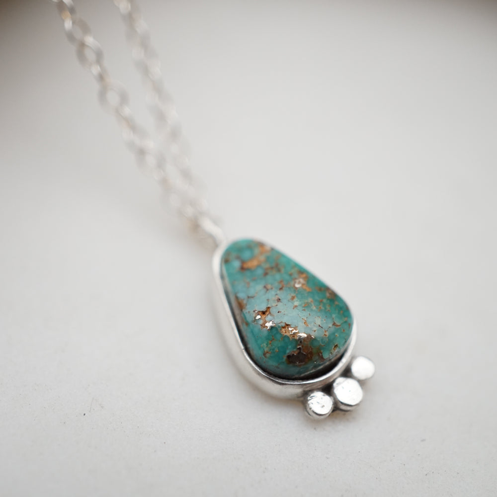turquoise mountain turquoise raindrop necklace
