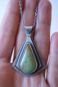 bamboo mountain turquoise triangle necklace