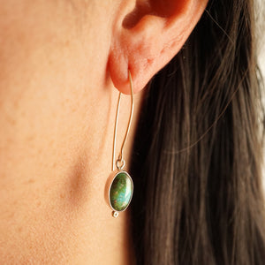 sonoran gold turquoise + 18k gold dot dangles