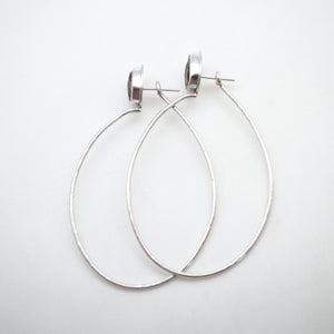 rosecut smoky quartz + silver hoops