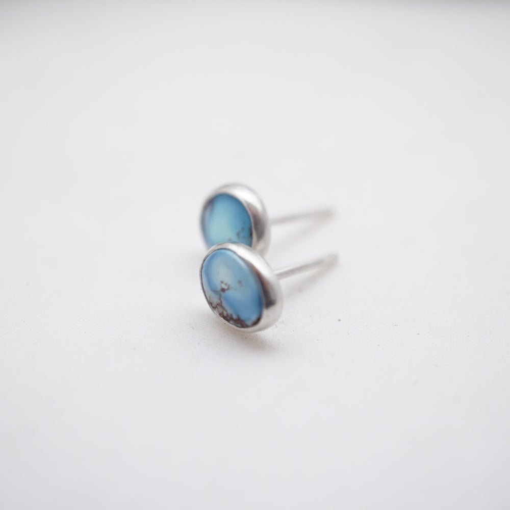 lavender turquoise tiny studs