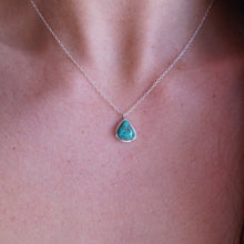 "dainty sierra nevada turquoise + silver necklace - 17"" chain"