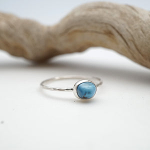 daintiest lavender turquoise ring - size 9