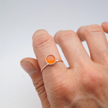 daintiest carnelian ring in 14k rose gold- size 7.5
