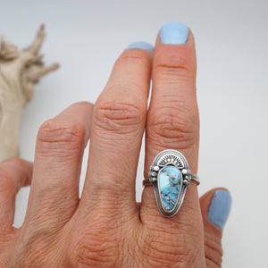 high grade lavender turquoise ring - size 6