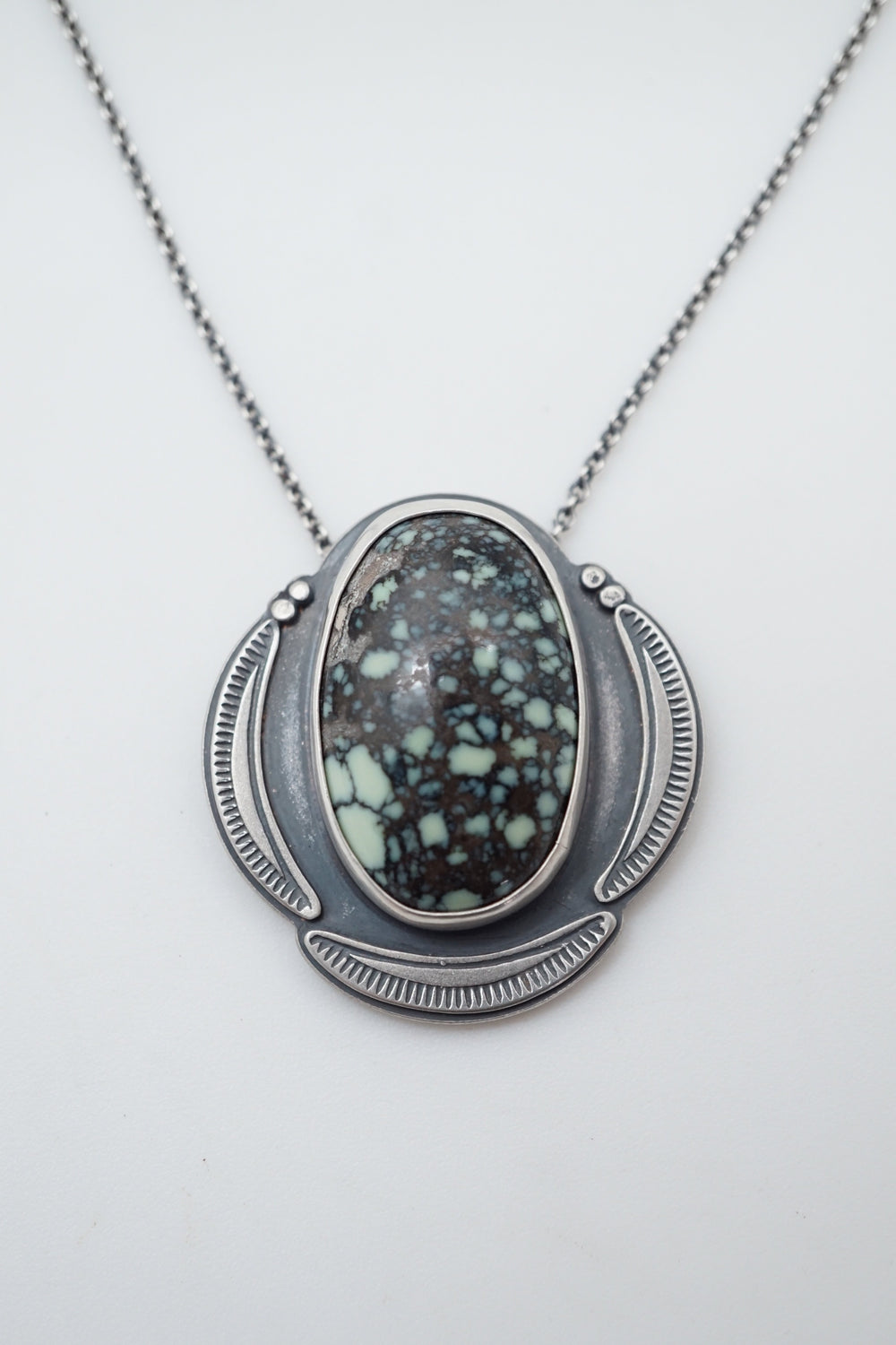new lander chalcosiderite necklace
