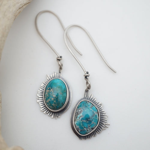 cheyenne turquoise dangle earrings
