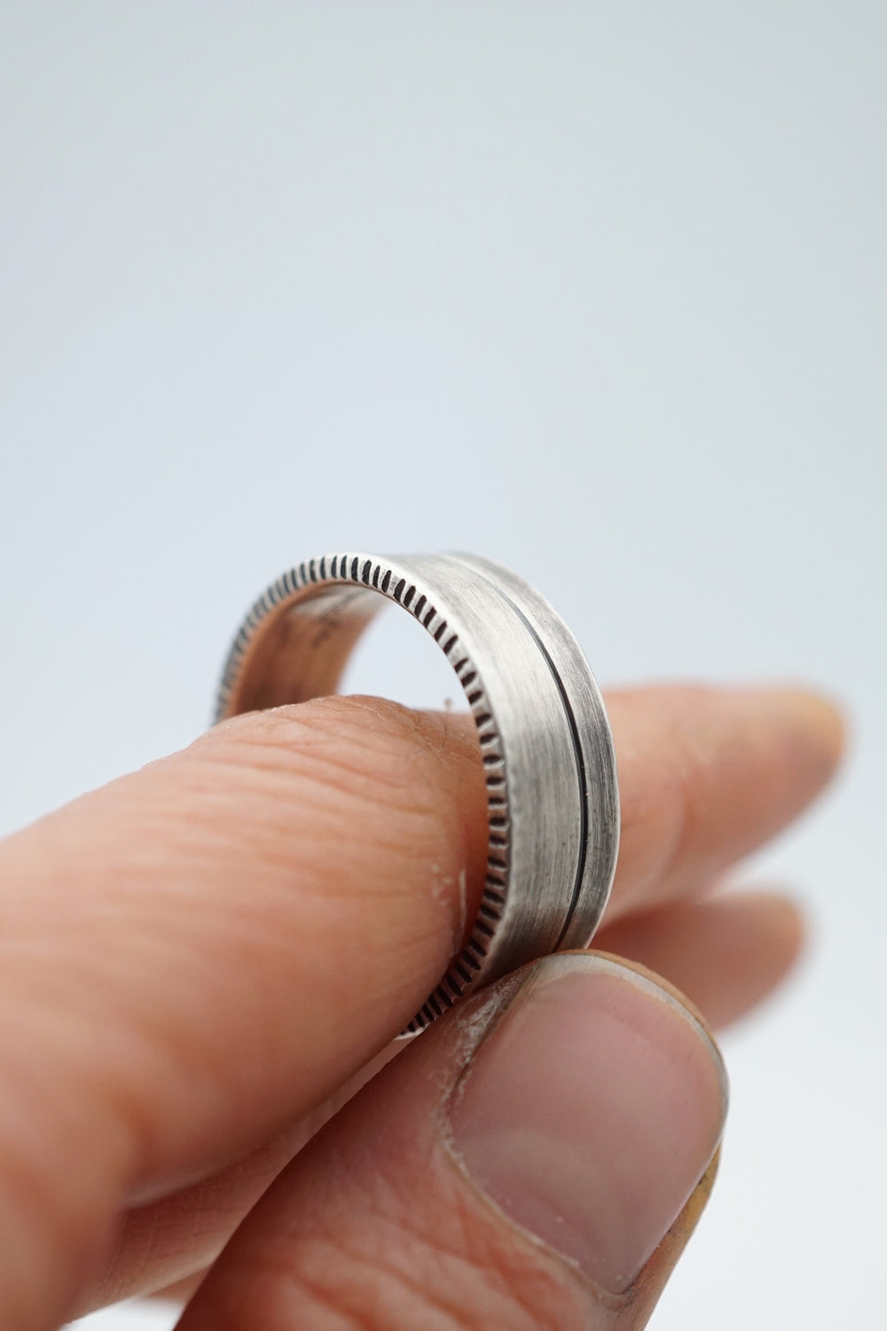 heavy gauge silver men's ring