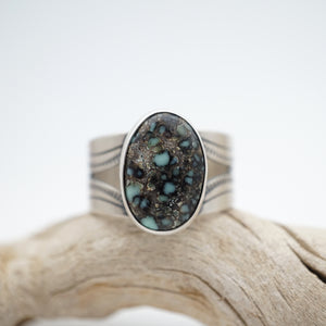 men's ring with poseidon variscite