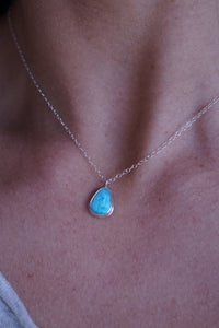 kingman turquoise and silver necklace