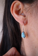 high grade lavender turquoise dangle earrings