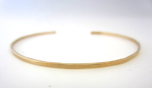 14k goldfill stacking cuffs- three styles