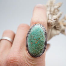 carico lake turquoise statement ring with copper accents- size 6.5/6.75