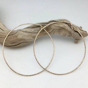 "2.5"" hoop earrings - silver or 14k goldfill"