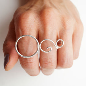 two-finger ring - large
