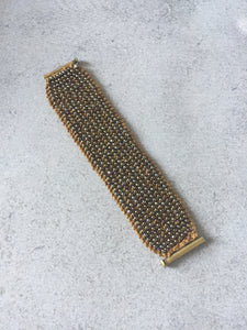 Women's Bronze Beaded Cuff